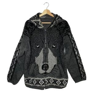 VTG Tejidos Ruminahui Wool Grey Wolf Jacket XL